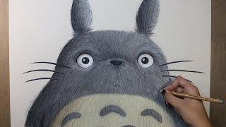 Speed Drawing: Totoro (My Neighbor Totoro | となりのトトロ) | Diana Díaz となりのトトロ 検索動画 49