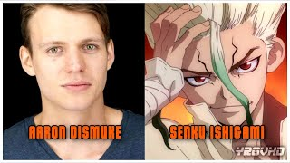 Dr Stone English Dub Anime Characters And Voice Actors Youtube