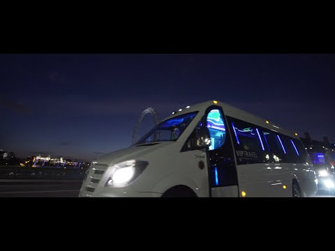 VIP Travel London :: Party Bus Hire in London :: Mercedes Sprinter :: Starline Limo Bus