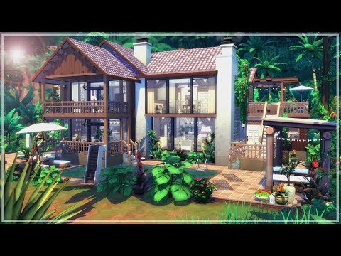 My Dream Vacation Home 🐒🦋 || Subscriber Thank you + Q&A || The Sims 4 Jungle Adventure - Speed Build
