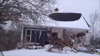 Man destroys house with payloader  when angry
