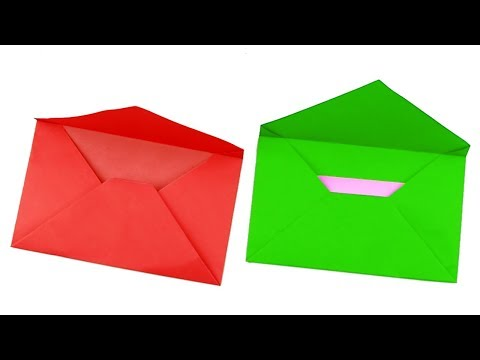 Envelope Making With Paper Without Glue at Home / How To Make Envelope With Paper (Origami Envelope)