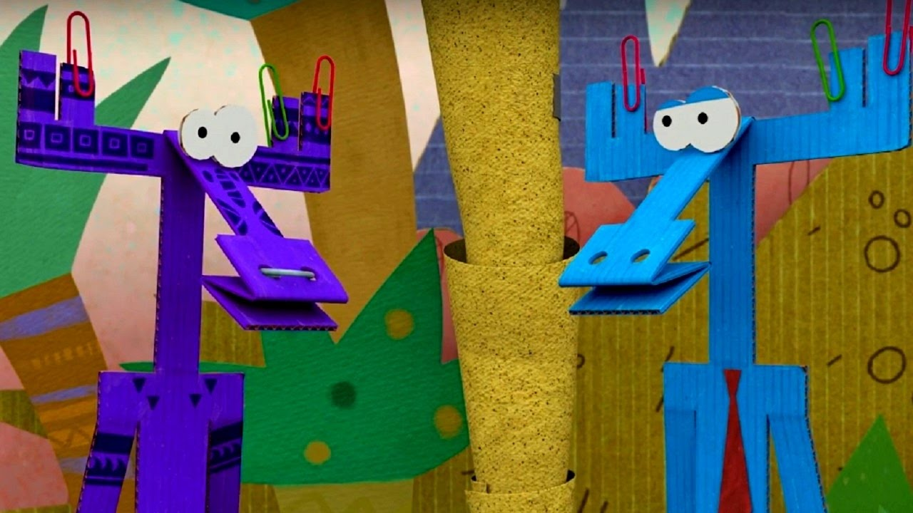 Бумажки - Сборник серий про путешествия Ари и Тюк-Тюка!  ❤✍✂????- мультфильм про оригами для детей