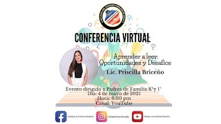 Conferencia virtual (aprender a leer ...