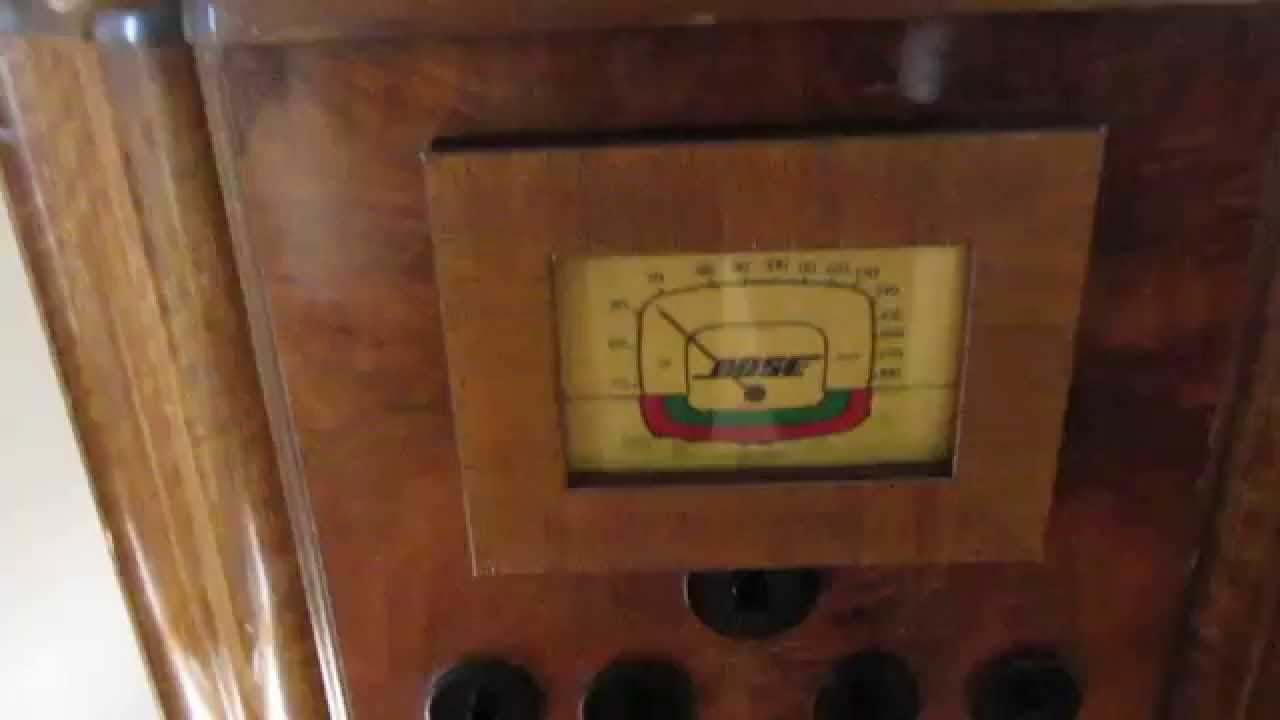 1930u0027s Antique Radio Fitted With IPod Dock And Bose Speakers   YouTube