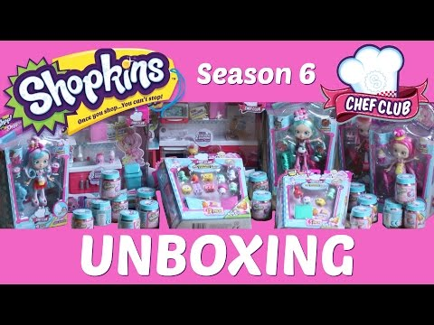 Epic Shopkins Unboxing Chef Club Season 6...