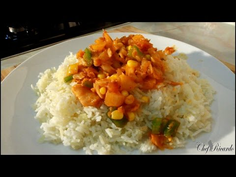 15 Minute Meals Recipe - Fry Up Salt Fish And Rice (Jamaican Cooking) | Recipes By Chef Ricardo
