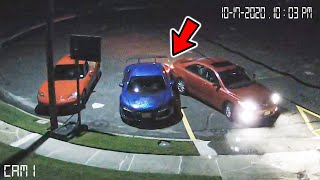 Someone Crashed Into My Audi R8.. *SECURITY FOOTAGE*