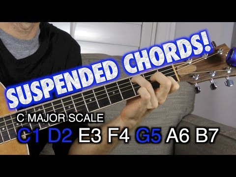 Video - Guitar Chord: Dsus2 (ii) (x 5 7 7 5 5)