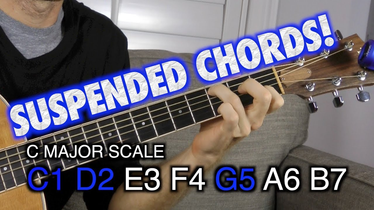 Suspended Guitar Chords Crash Course Youtube