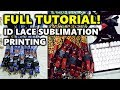 TUTORIAL: HOW TO MAKE ID LACE SLING (Lanyard Sublimation Printing) + Layouting & Assembly