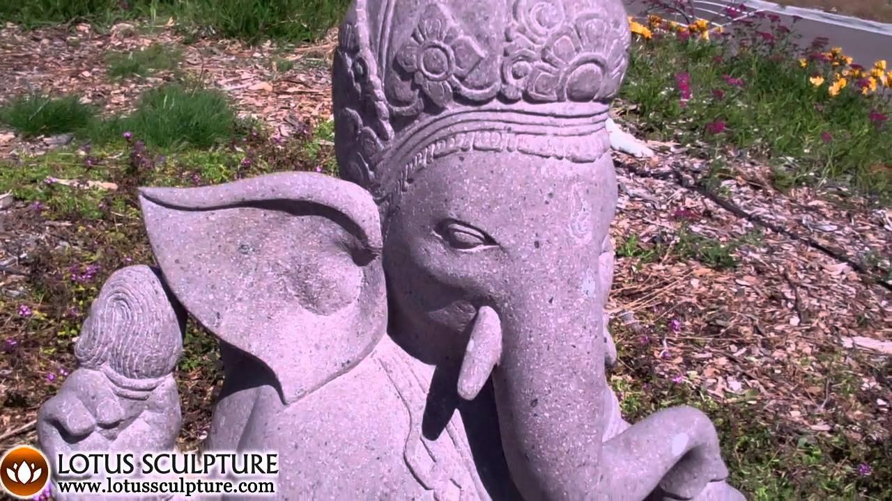 Garden Ganesh Sculpture, Bali Ganesh Garden Statue   YouTube