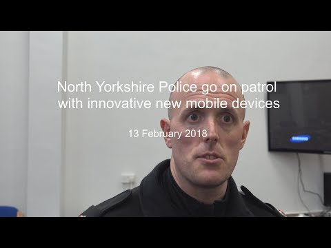 North Yorkshire Police use mobile devices for mobile working