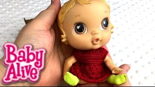 Baby Alive Cribs Life Lily Sweet Duck Tape Doll Cradle and Crochet Dress