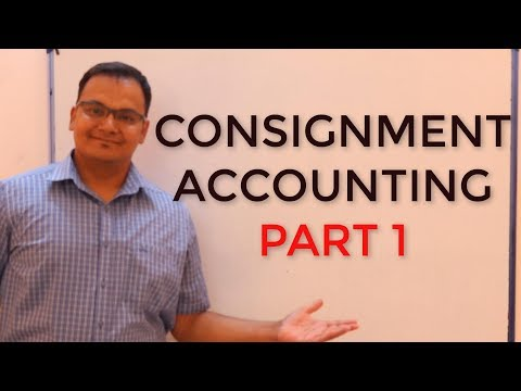 Consignment Accounting:: Part 1