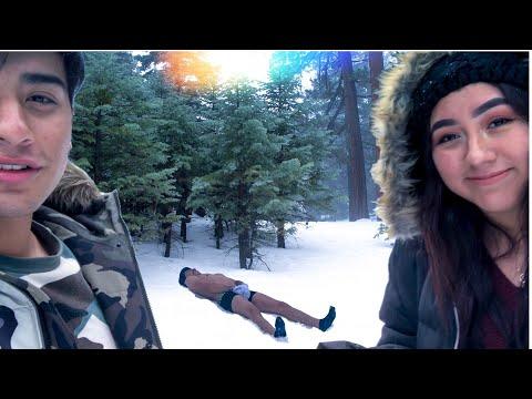 Reto en la nieve | Hago angelitos S1N R0P4 !!  😮