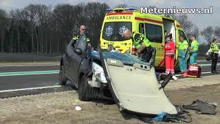 Auto's botsen op de N34 tussen Holtheme en Coevorden