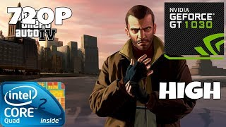 GTA 4 - Core 2 Quad Q9550 - GT 1030 (GTA IV 720p High Settings Benchmark)