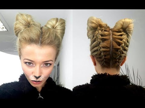 cat hair styles cat or fox hairstyle and make up tutorial 1648