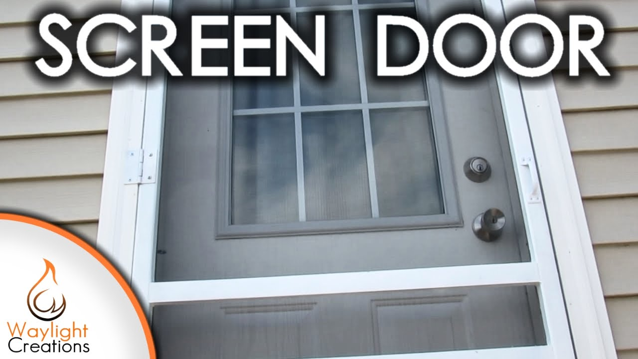 Easy Diy Wood Screen Door Youtube