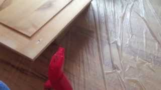 How to Paint Kitchen Cabinets: step 5 Dusting