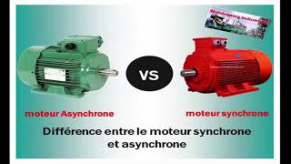 Différence entre moteur asynchrones et synchrone