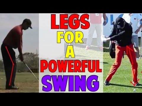 HOW TO USE THE LEGS FOR A POWERFUL GOLF SWING| TIGER WOODS & RORY MCILROY