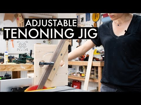 How to Make an Adjustable Tenoning Jig // Angled Joinery // Woodworking Jig