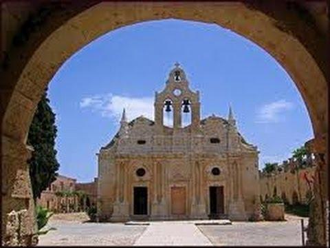 Grèce #Crète  l'ancien #Monastère forteresse Orthodoxe d'#Arkadi