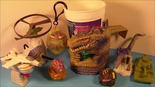 1998 GODZILLA SET OF 9 TACO BELL KID'S MEAL MOVIE TOY'S VIDEO REVIEW