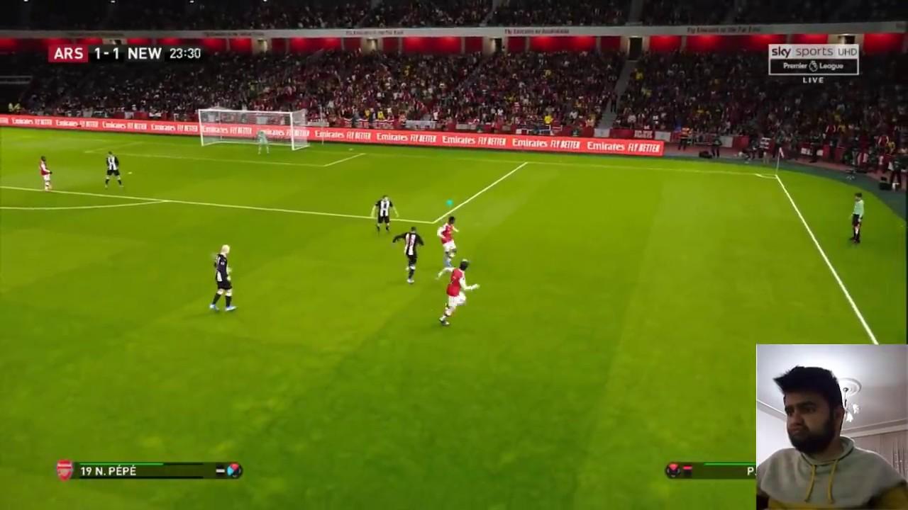 Arsenal Vs Newcastle United 4 0 Premier League Matchday 26 16 02 20 Pes 2020 Simulation Youtube