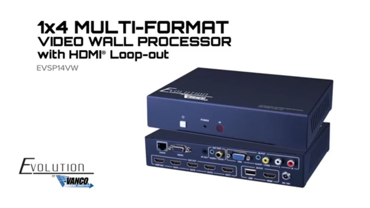 Evolution 1X4 Multi-Format Video Wall Processor with HDMI Loop-Out