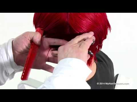 Learn to cut a bob haircut by Tim Hartley   MyHairDressers com
