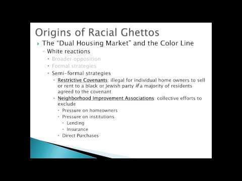 Pre-WWII Racial Ghetto (1st Great Migration and Ghetto Formation)