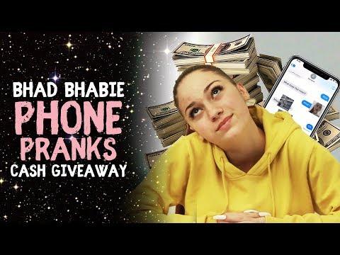 BHAD BHABIE Phone Pranks & $5000 Cash Giveaway | Danielle Br