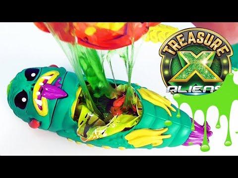 ВСКРЫТИЕ ПРИШЕЛЬЦА! Инопланетяне в сюрпризах Treasure X Aliens toys slime surprise unboxing