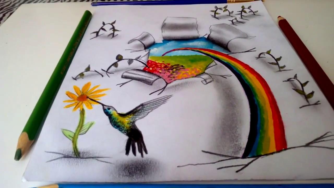 Bienvenida Primavera Dibujo 3d Welcome Spring 3d Art Youtube
