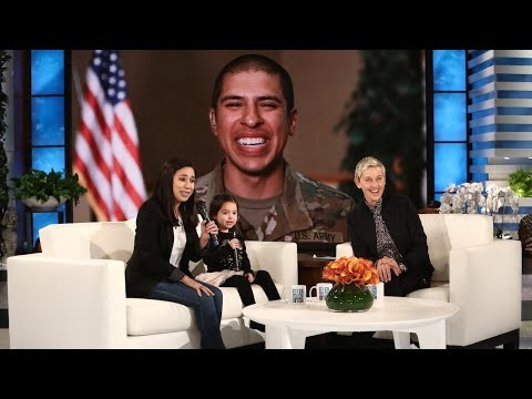 Thumbnail: Ellen Surprises Military Mom and Daughter