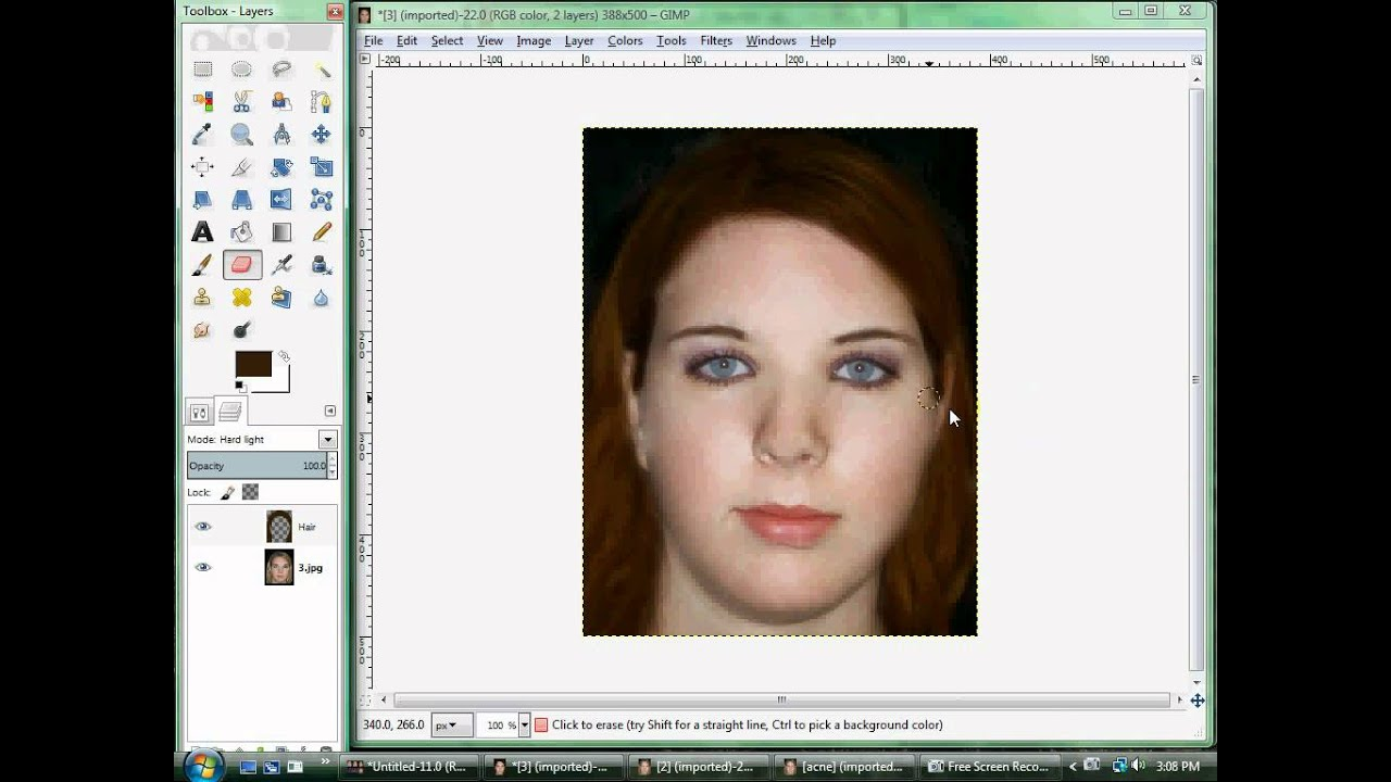 Changing Eye And Hair Color Gimp 28 Video 3 Editing Make Over
