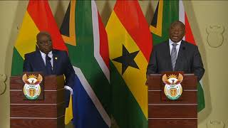 President Cyril Ramaphosa hosts President of Ghana on State Visit to South Africa