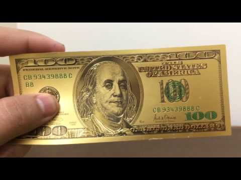 Gold Dollar Bill