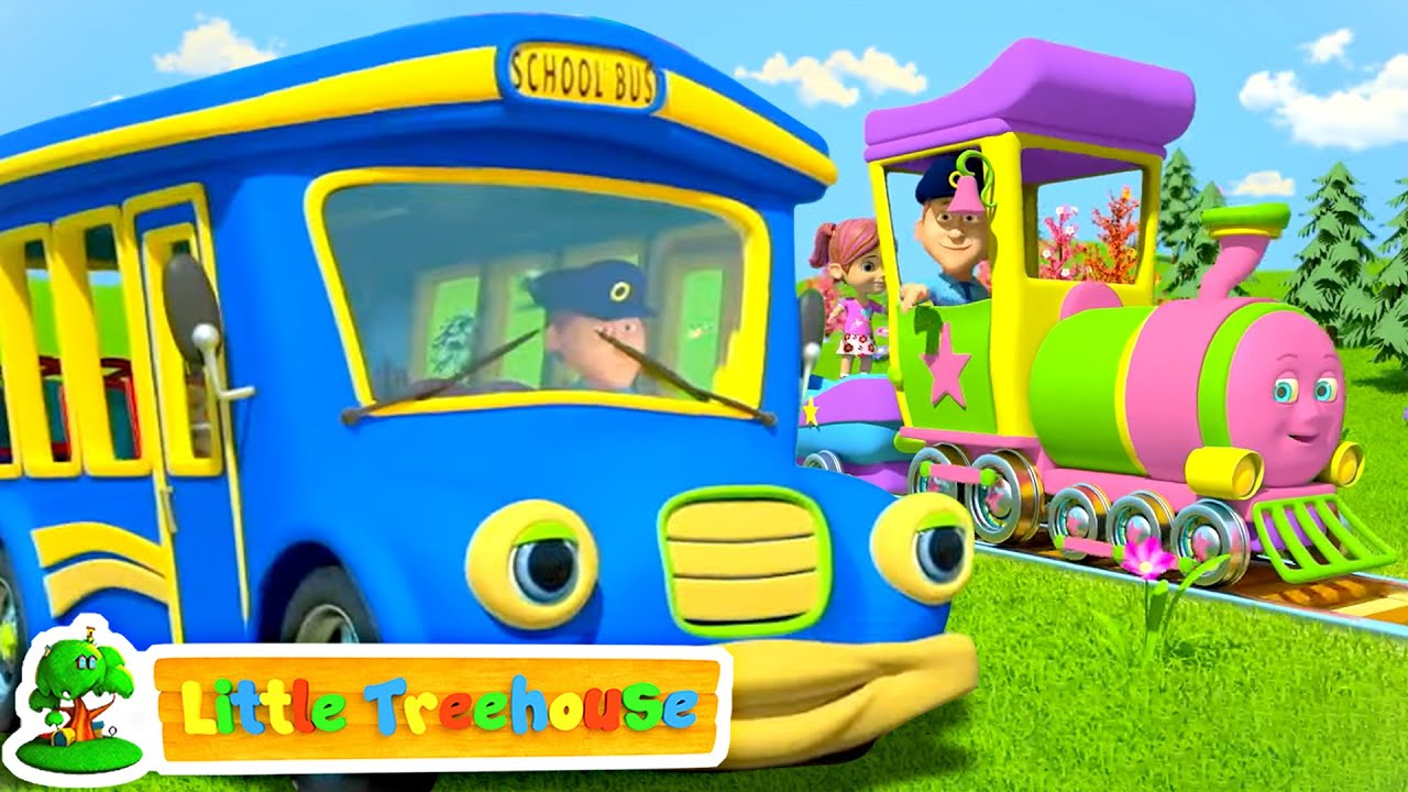 The Wheels on the Bus & Vehicles | Nursery Rhymes & Kid Songs | Children's Music - Little Treehouse