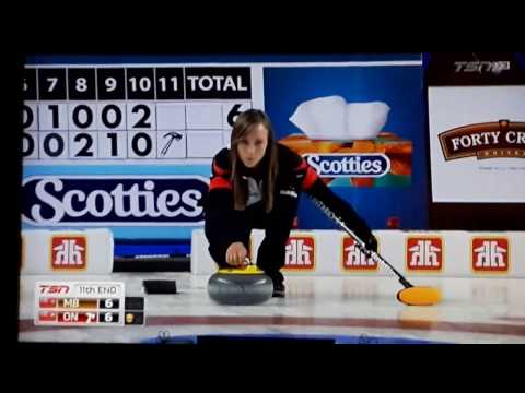 Winning last rock thrown to win the Canadian Curling Championship Feb 26 2017