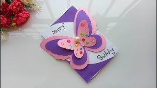 Beautiful Handmade Birthday card//Birthday card idea.