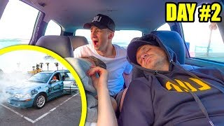 TRAPPED INSIDE DRIVING A $20 CAR UNTIL IT BROKE DOWN (freakout)