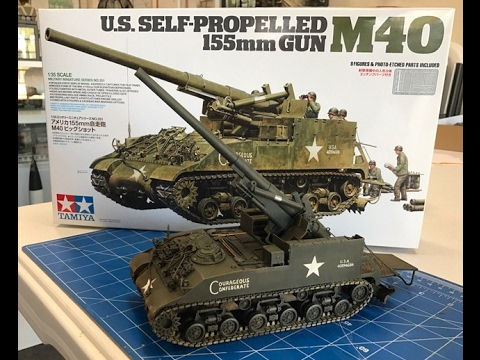 Building the Tamiya 1/35  M40  Self Propelled 155mm  Gun
