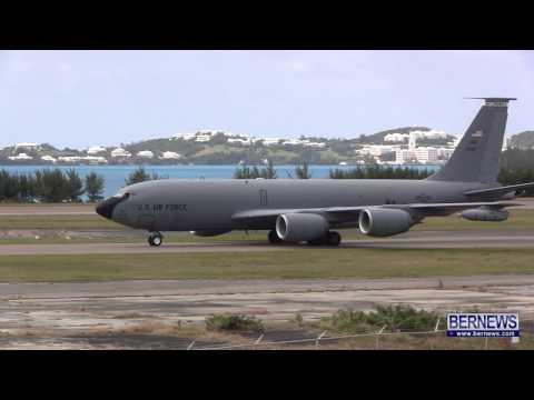 RAF & USAF Military Aircraft Depart Bermuda, Mar 23 2013