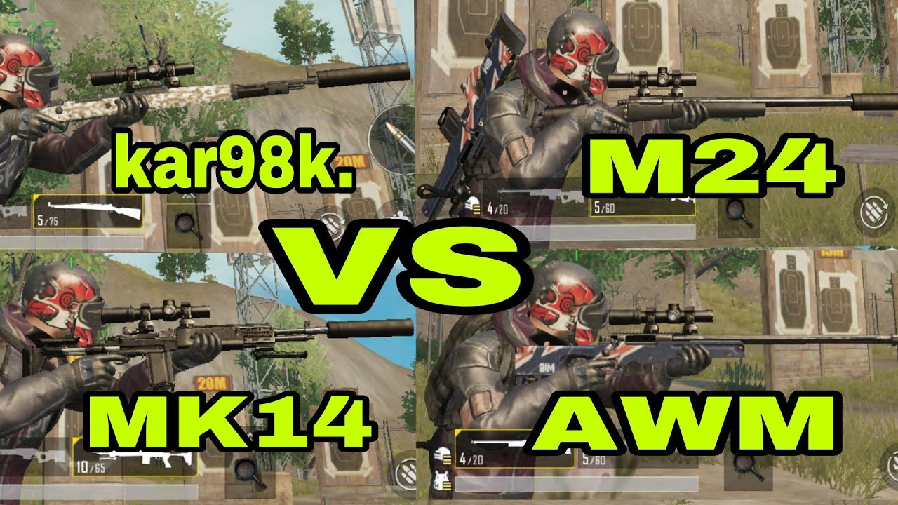 Pubg mobile 0 8 | mini zone | kar98k  Vs M24 vs MK14 vs AWM sniper battle