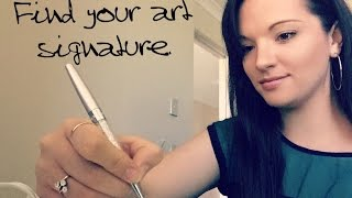 Q and A:  How to find your art Signature.