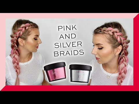I HEART REVOLUTION | HOW TO: PINK AND SILVER HAIR - RAINBOW PASTES